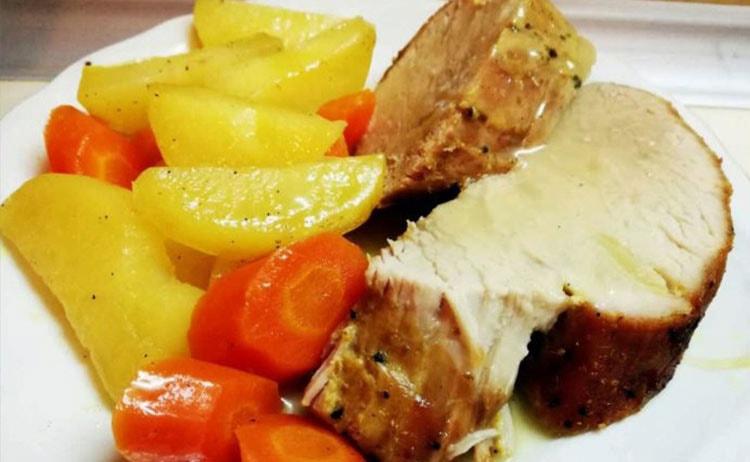 свинско печено с винен сос